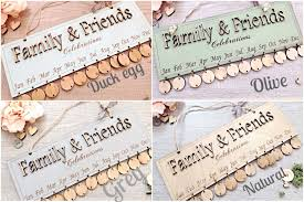 family and friends birthdays and celebration board gift for her