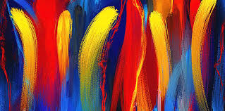 bold colors be bold primary colors abstract art painting by lourry legarde