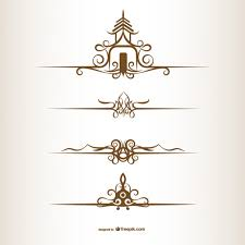thai style ornaments vector free
