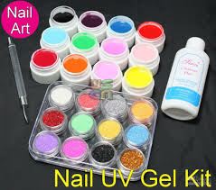 acrylic glitter powder uv builder gel nail art kit 412 nail art