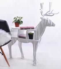 nordic christmas 100 birch wood table european deer elk side desk