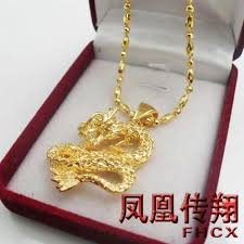 necklace gold man images Wholesale man 39 s favorite overbearing dragon pendant gold plated jpg