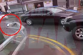 moseley car crash video horror moment mercedes u0027runs over