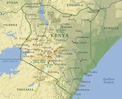 geographical map of kenya kenya map