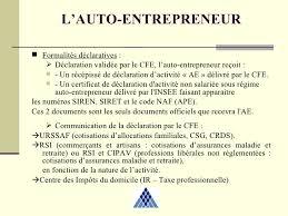declaration auto entrepreneur chambre des metiers autoentrepreneur 2 04 2009