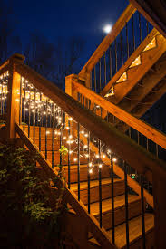 Patio Cafe Lights by Deck Lighting Ideas With Brilliant Results Yard Envy