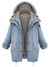 jean sweater jacket hooded drawstring boyfriend trends jean swish pockets two