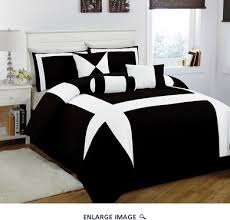 Black And White Bed 7 Piece Cal King Jefferson Black And White Comforter Set