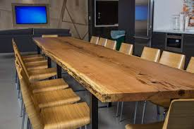 Oak Meeting Table Live Edge Wood Slab Tables And Furniture Re Co Bklyn