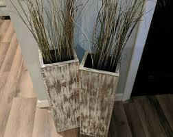 Wooden Vases Uk Set Of 3 Rustic Floor Vases Wooden Vases Home Decor