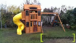exterior costco cedar summit playset climbing frame with natural