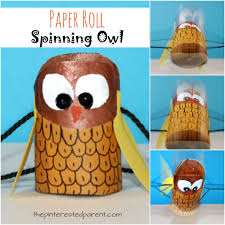 Halloween Paper Towel Roll Crafts Paper Roll Spinning Owl U2013 The Pinterested Parent
