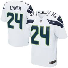 marshawn lynch seattle seahawks nike elite jersey white