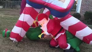 Dinosaur Blow Up Christmas Decoration by Santa Blowup Youtube