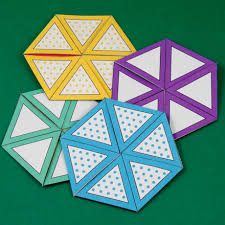 flexagon craft project templates craft projects and triangles