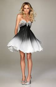 black and white short prom dress homemade party decoration