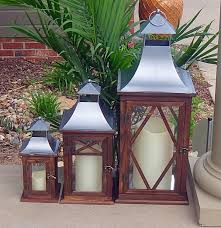 Patio Latern Amazon Com 3pc Indoor Or Outdoor Lanterns Decorative Candle