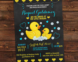 duck baby shower invitations duck baby shower etsy
