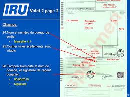 bureau de sortie douane scénario 5 remplissage du carnet tir par les douanes de départ et de
