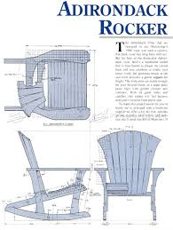 adirondack rocking chair plans