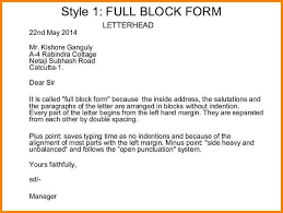 awesome collection of full block style business letter example in