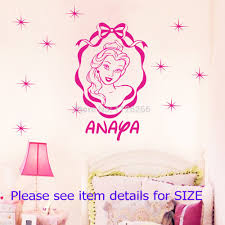 compare prices on princess names girls online shopping buy low customer made princess wall stickers personal name vinyl wall art decals for girls china