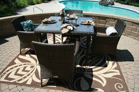 All Weather Wicker Patio Chairs The Lantana Collection 5 Piece All Weather Wicker Patio Furniture