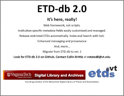 Electronic Thesis And Dissertation In Library And Information Science Usetda Usetda 2013