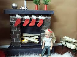 how to make a fireplace for barbie youtube