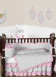 Cheetah Print Crib Bedding Set Sweet Jojo Designs Black And White Trellis Bedding Affordable