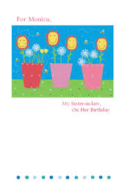 love for sister in law greeting card happy birthday printable
