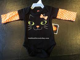 nwt baby halloween onesie bodysuit creeper adorable black cat