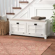 ferryhill wood storage bench u0026 reviews birch lane