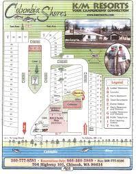 Columbia Campus Map Long Beach Campground Columbia Shores Resort Chinook Wa
