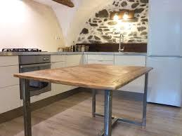 cuisine bois acier table de salle manger en vieux bois et acier avec table bois acier