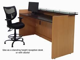 Standing Reception Desk Custom Standing Height Glass Top Reception Desks 6 W Custom