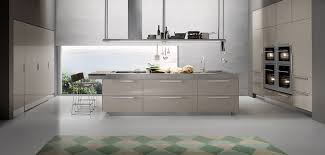 contemporary kitchen walnut stainless steel island artusi