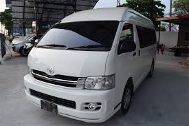 import used toyota hiace commuter manual white 2010 from thailand