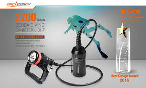 best primary dive light orcatorch d620 scuba diving canister light