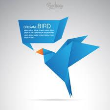 Origami Illustrator - blue origami bird free vector in adobe illustrator ai ai