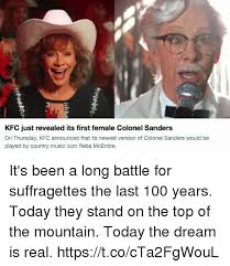 Colonel Sanders Memes - kfc just revealed its first female colonel sanders on thursday kfc