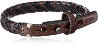 fossil black leather bracelet images Fossil men 39 s braided bracelet mens bracelets leather jpg