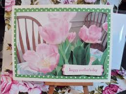 Mother S Day Greeting Card Handmade Happy Mother U0027s Day Tulips Handmade Greeting Card Emc122 U2022 1 99