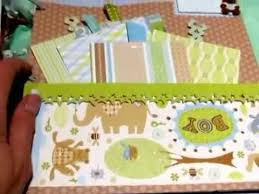 baby boy scrapbook album scrapbooking baby boy mini album year