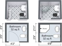 Bathroom Design Floor Plan by Small Bathroom Design Plans 6 Option Dimension Small Bathroom