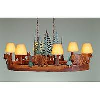 Bear Chandelier Chandeliers Oval Avalanche Ranch Lighting