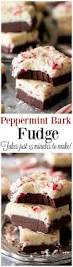 peppermint bark fudge made in just 15 minutes without a candy
