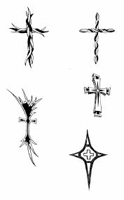 Small Tribal Cross - small tribal cross tattoos best design