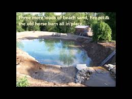 How To Make Your Backyard Private 2 Building Your Own Private Beach Swimming Pond 7 2012 Youtube