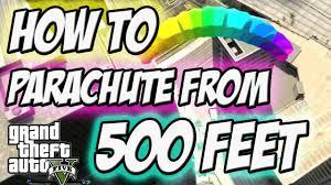 gta 5 parachute from 500 feet daily objective youtube